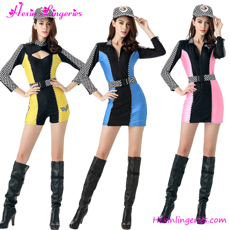 New Design Saucy Dress Stretchy Sports Cheerleader Themed Halloween Customes Cheer Dance Costumes
