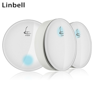 Linbell G3 loud sound industrial door bell with push button UK Plug with 2 transmitters and 1 receiver