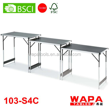 3 Height Adjustable Wallpaper Pasting Folding Table