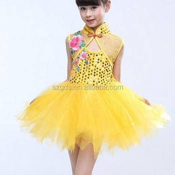 Latest 2015 Beautiful Princess Fairy Dance Costume For Kids Girls With  Requin Children Stage Dance Costume