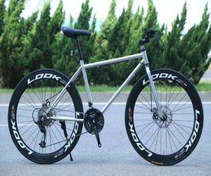 26 inch 21speed double disc brake 700c colored tyre bicycle