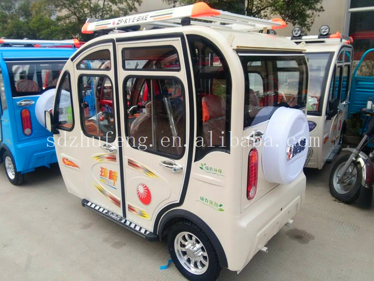 Low price solar electric tricycle cars hybird taxi for passenger DM5