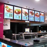 2015 led fast food restaurant led menu board