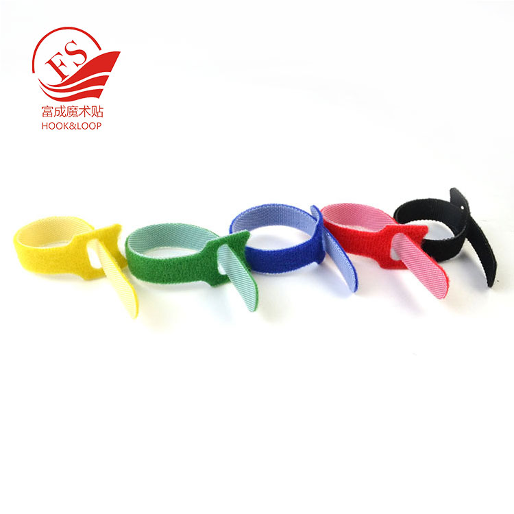 hot selling in Amazon Self Gripping Cable Ties Microfiber Cloth Hook and Loop Cord Wraps