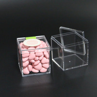 small clear acrylic candy boxes with lids mini acrylic wedding gift favor box 55x55x55 acrylic box