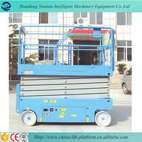 Self propelled Scissor Lift / Vertical Man Lifting Platform / Electric Hydraulic Upright Lifter