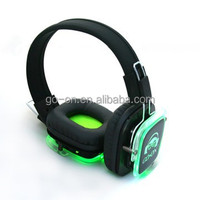 High Quality Wireless Silent Disco Party Headphone with LED lights