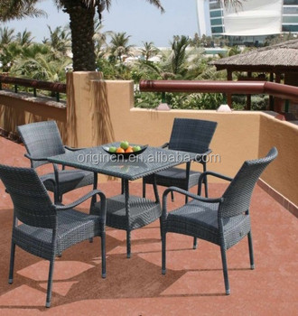 Grey Waterproof Synthetic Ratan Wicker Outdoor Furniture Set Table And  Chair For Coffee Shop   Buy Table And Chair For Coffee Shop,Ratan Outdoor  ...