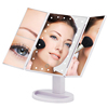 Led Lighted Makeup Mirror 3X 2 X 1X Magnifying Mirror 24 LED Tri-Fold Vanity ABS Beauty Mirror
