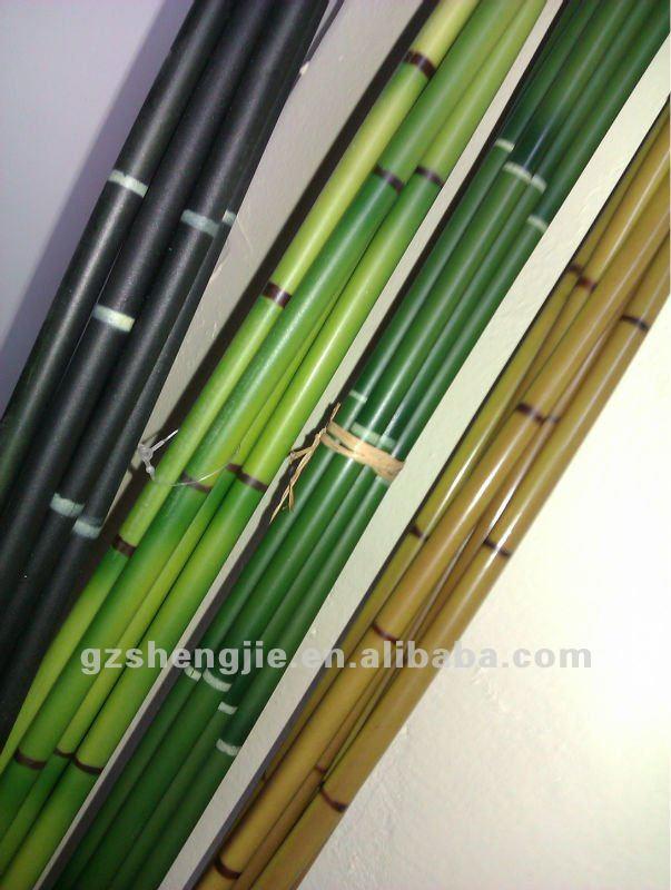 Sj d corative artificielle b ton de bambou faux bambou for Bambou plastique
