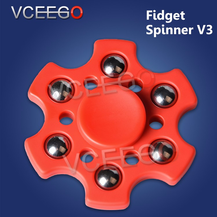 Newest arrival fidget spinner V3 the flower spinner with high quality r188 bearing hand spinner fidget toy wholesale now