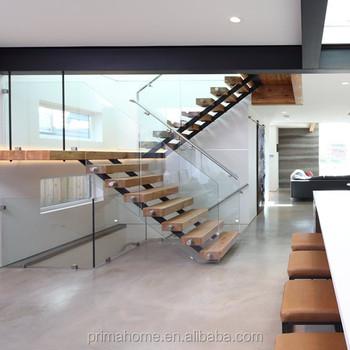 Doble Zanca Madera Escalera Interior Diseño Escaleras - Buy Interior ...