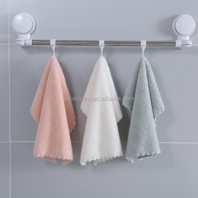 Factory Direct Sale Kitchen Absorbent Coral Fleece 4pcs Dish Cleaning Cloth Wipe Bowl Washing Cloth Set