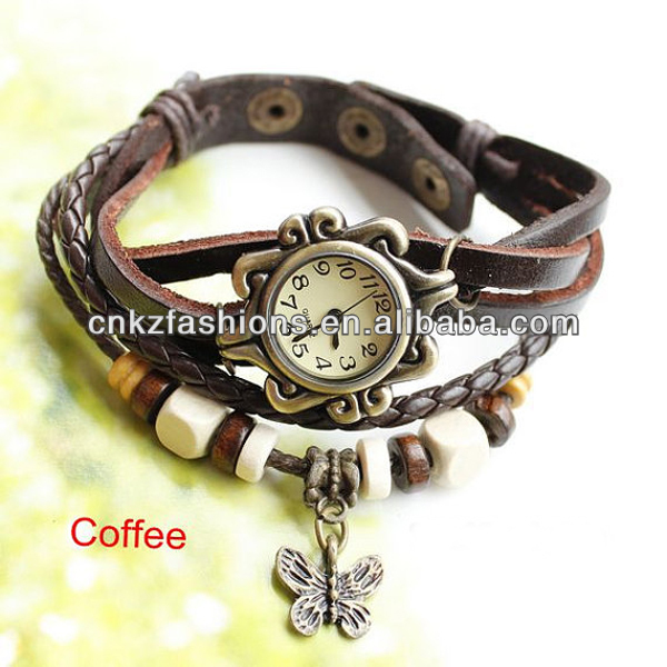 <strong>DHL</strong> !!! top selling fashion cord bracelet genuine leather watch