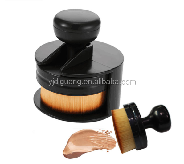 Professional Round Stamp Seal Shape Face Makeup Brush Foundation Powder Blush Contour Brush Cosmetic Facial Brush