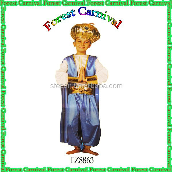 TZ8863 New Style Blue Aladdin Costumes For Boys Factory