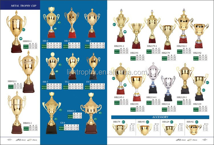 Customize Metal Trophies Sports Event Awards Souvenir Home Decoration