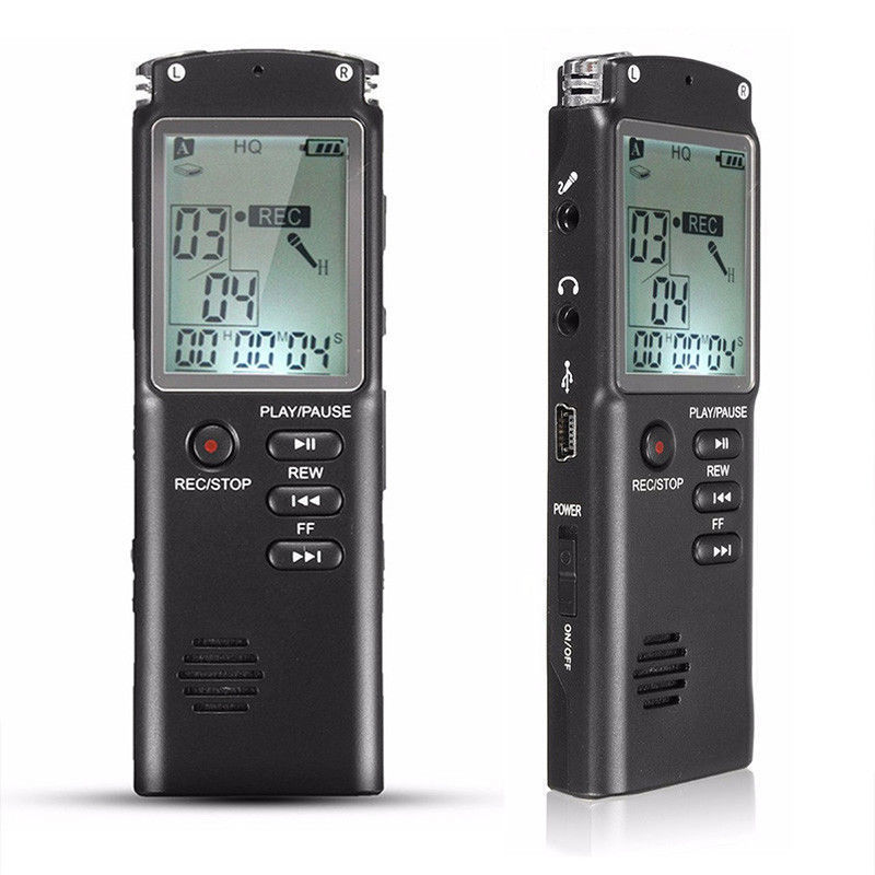 8GB digital audio recorder rechargeable sound voice recorder dictaphone telephone mp3 player фото