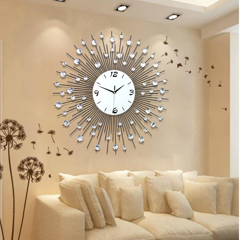 Home Decoration Wall Clock Modern Living Room Wall Clocks Fashion Watch Brief Personality Clock