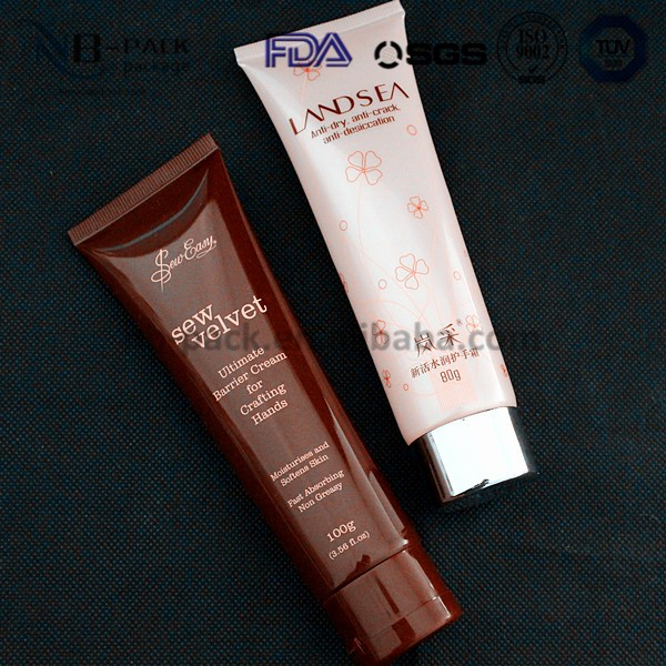 plastic tube for hotel and resort tiny shampoo/shower gel packing/soft cosmetic tube packaging