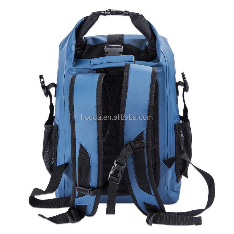 Blue 500D pvc tarpaulin waterproof backpack waterpoof dry backpack bag фото