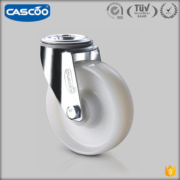 "CASCOO 5"" industrial double locking polyamide roller casters wheel plastic, conveyor trolley wheel"