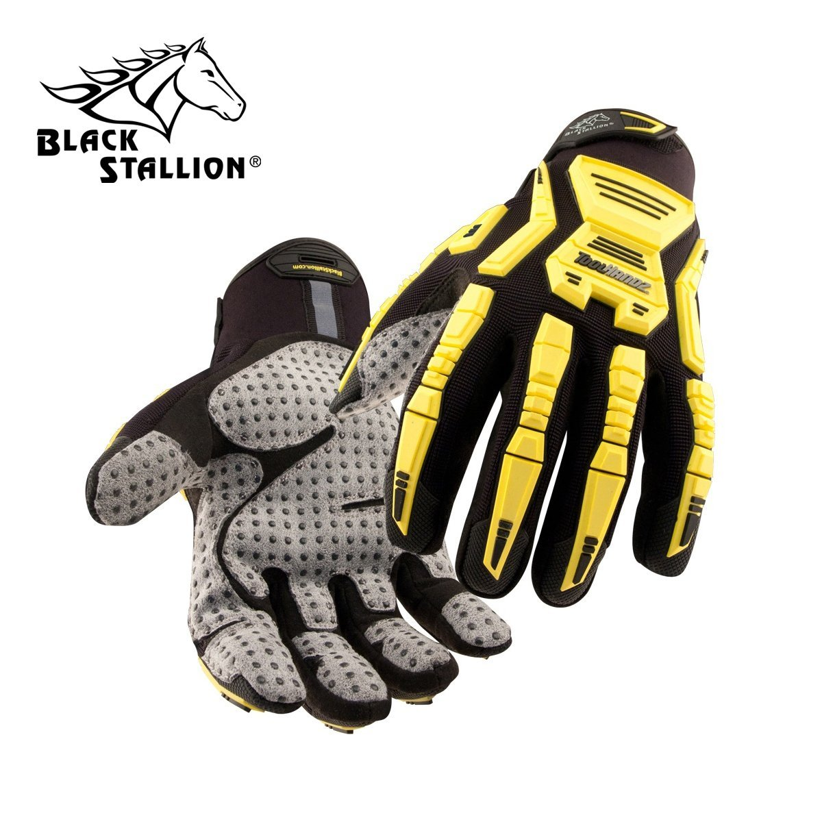 REVCO BLACK STALLION - GX105 TOOLHANDZ SYNTHETIC LEATHER MECHANIC'S GLOVES - SIZE: MEDIUM - CASE OF: 60 PAIR