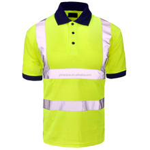 Short sleeve high visibility button shirts wholesale