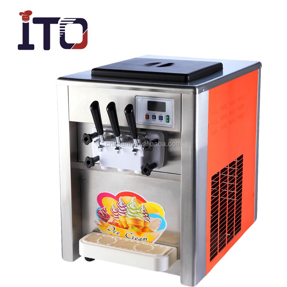 RB-818T Tischzählerplatte Handelsübliche Softeismaschine