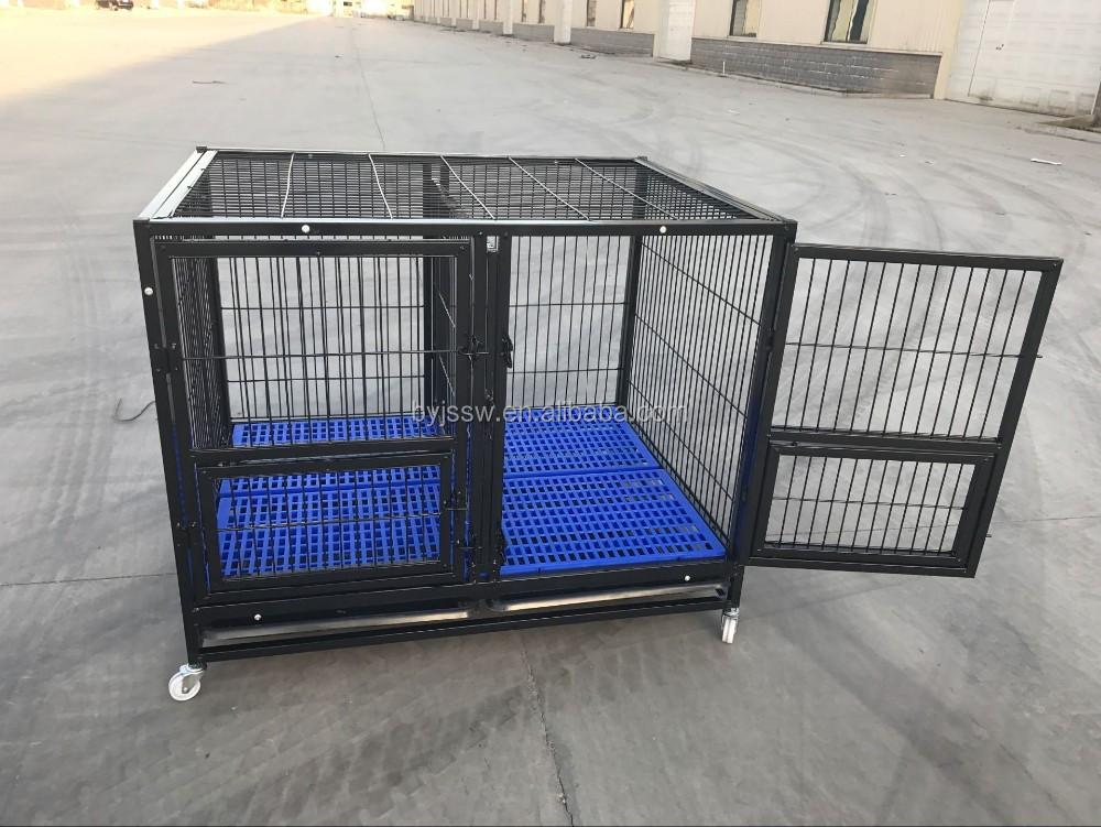 Tabung Logam Besar Besar Anjing Kandang dan Crates (Sampel Gratis, Pengiriman Cepat)