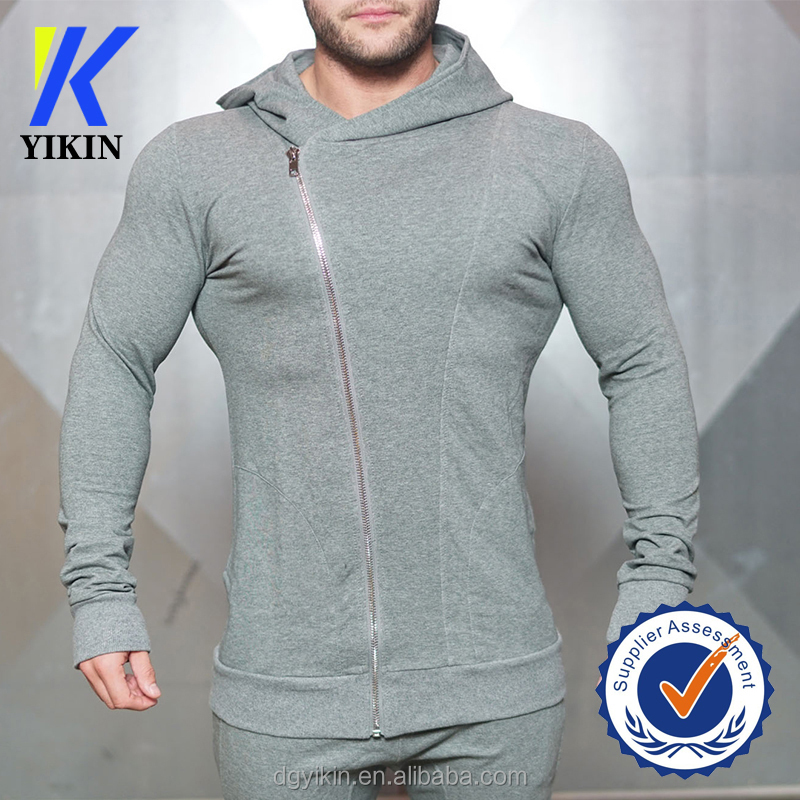 oem custom logo plain gym hoodie asymmetric fitness hoodies men blank bulk hoodies