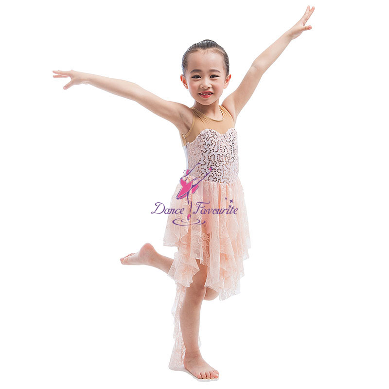 Embroidered Sequin Mesh Dress For Girls Ballet And Lyrical Dancing ...