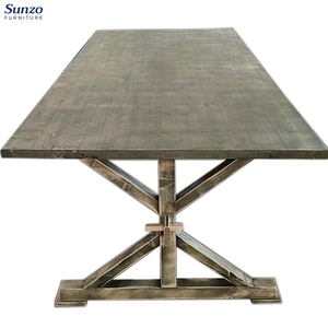 Vintage French Wood Rustic Folding Table for Wedding