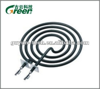 Coil tube heating element series