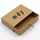 rigid cardboard kraft paper box slide open box