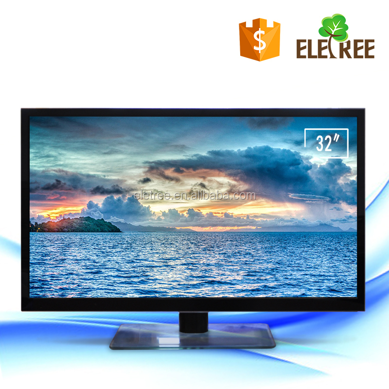 "32"" inch LED flat screen television Wall Mountable HDTV slim led tv can add DVB-T2 KT-13A"