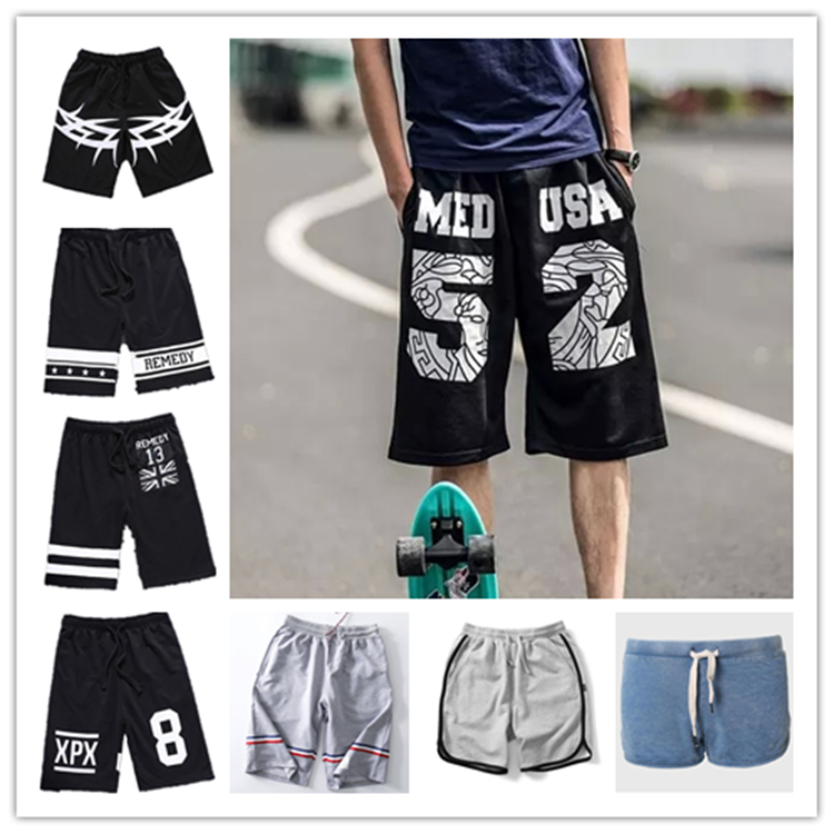 Summer shorts casual hip-hop basketball sport men shorts pants with draw cord