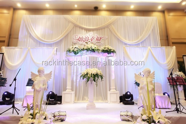 Birthday party backdrop drapes/backdrop design with aluminum poles/wedding crystal backdrop