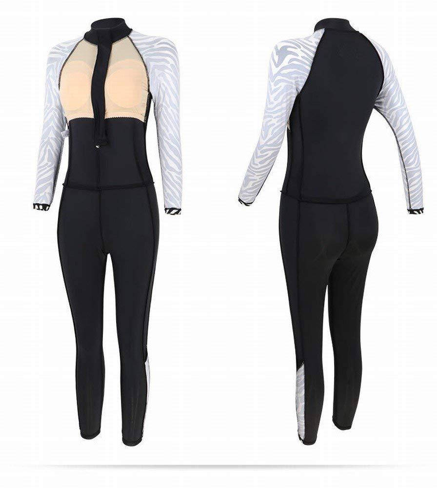 b3247f4bc76e8 Get Quotations · DEED Women S One-Piece Swimsuit Swimsuit Wetsuit Jellyfish  Siamese Long Sleeve Pants Swimwear Women
