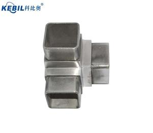 Stainless Steel Pipe Fitting 40mm / 50mm Square Tube Connectors