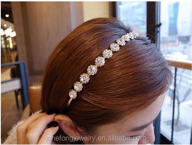 Crystal Stone <strong>Hair</strong> Band Korean Bling <strong>Hair</strong> <strong>Accessories</strong> For Girl