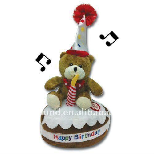 Plush Musical Birthday Teddy Bear