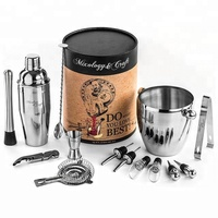 Cocktail Mixing Bar Set Includes Premium Barware Tools Cocktail Shaker Wine Accessories and Ice Bucket
