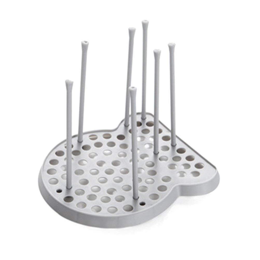 Get Quotations Bestomz Dish Drying Rack Drainer Kitchen Plate Cup Bowl Gl Holder Organizer Grey