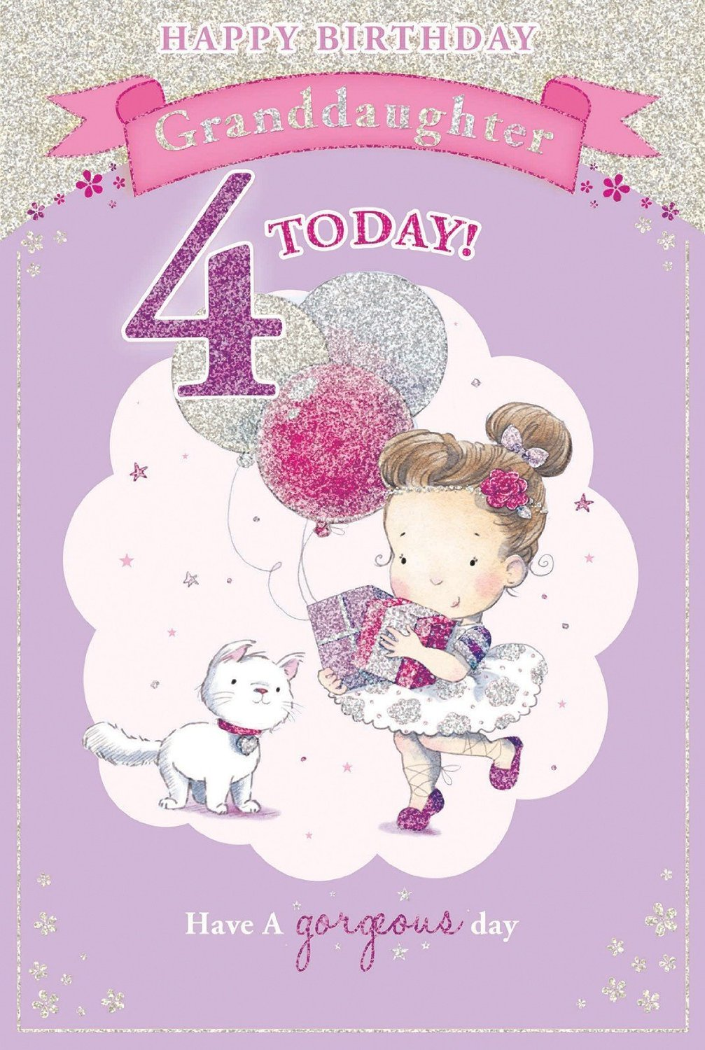 Candy Club Granddaughters 4Th Birthday Card