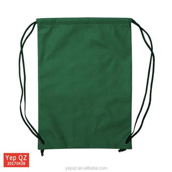Best selling simple design custom blank 210D waterproof army green backpack  drawstring nylon bags dbced4bd5