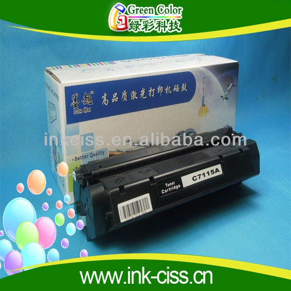 New compatible toner cartridge for hp C7115A for hp 1000/1005/1200/1220/3300/3310/3320/3330/338 with high quality
