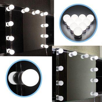 Waterproof 10 Led Bulbs Mirror Lamp Hollywood Led Bathroom Vanity