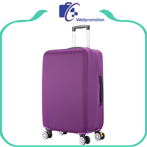 Purple spandex decorative protective cover luggage suitcase