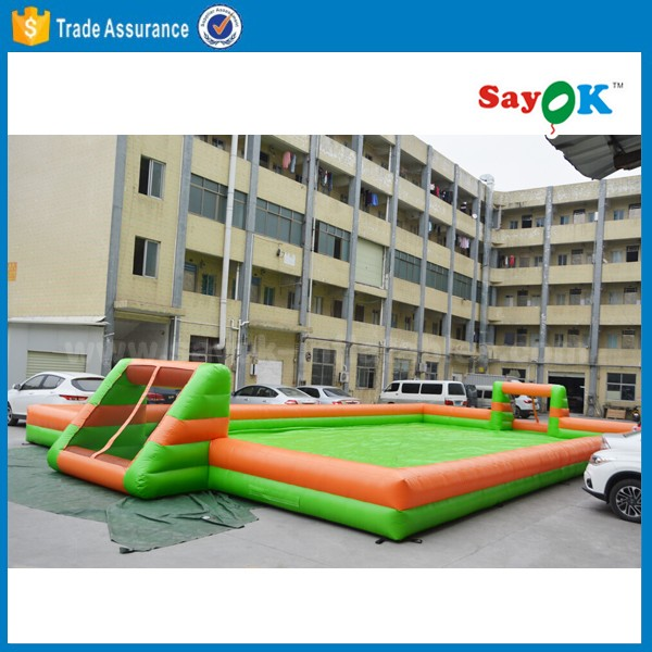 Outdoor Inflatable Soccer Field,inflatable soap football field,inflatable football pitch for sale